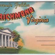 SOLD Souvenir Folder of Richmond Virginia