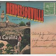 SOLD Souvenir Folder of Hendersonville NC North Carolina