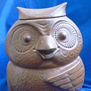 McCoy Pottery Brown Owl Cookie Jar