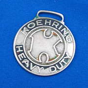 Koehring Heavy Duty Anderson Equipment Co Inc Omaha NE Advertising Watch Fob