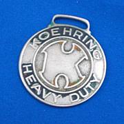 Koehring Heavy Duty Anderson Equipment Co Inc Omaha NE Advertising Watch Fob