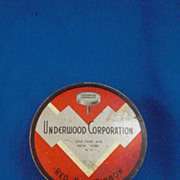 Underwood Corporation Red Box Ribbon Red and Gray Typewriter Ribbon Tin