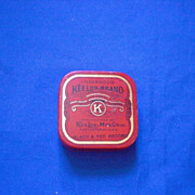 KeeLox Red Black and Gold KeeLox Mfg Co Rochester NY Typewriter Ribbon Tin