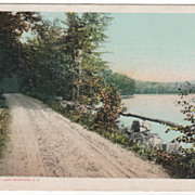 DPC Copyright 1907 On the Shore of Lake Spofford NH New Hampshire Postcard