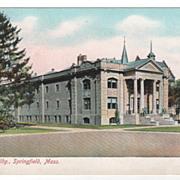 Science Building Springfield MA Massachusetts Postcard