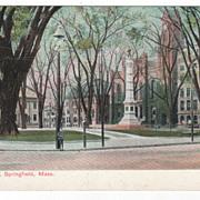Court Square Springfield MA Massachusetts Postcard