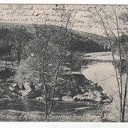 Union of Millers and Connecticut Rivers Orange MA Massachusetts Postcard