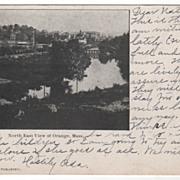 North East View of Orange MA Massachusetts Postcard
