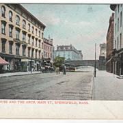 Massasoit House and the Arch Springfield MA Massachusetts Postcard