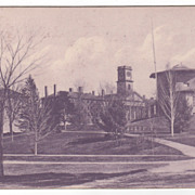 Blue Tinted Amherst College Amherst MA Massachusetts Postcard