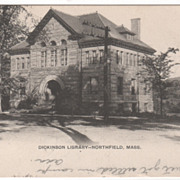Dickinson Library Northfield MA Massachusetts Postcard