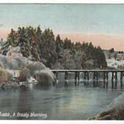 Orange MA Massachusetts A Frosty Morning Vintage Postcard