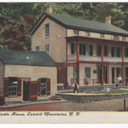 Rip Van Winkle House Catskill Mountains NY New York Vintage Postcard