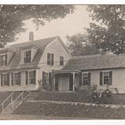 Childhood Home of Mrs S. E. Bond Picture Taken October 4 1907 Postcard