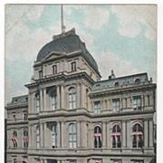City Hall School Street Boston MA Massachusetts Postcard