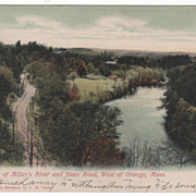 SOLD Miller's River and State Road West of Orange MA Massachusetts Postcard
