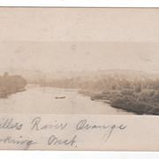 Millers River Orange MA Massachusetts Looking West Vintage Postcard