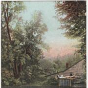 Warwick MA Massachusetts Gales Old Mill Vintage Postcard