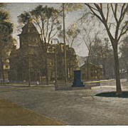 Public Library North Adams MA Massachusetts Vintage Postcard