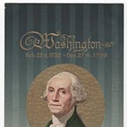 Washington's Birthday Vintage Postcard George Washington Birth and Death Dates