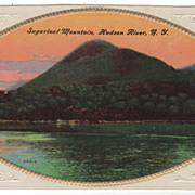Sugarloaf Mountain Hudson River NY New York Vintage Postcard