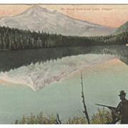 Mt Hood from Lost Lake OR Oregon Vintage Postcard