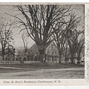 SOLD Chas H. Hoyt's Residence Charlestown NH New Hampshire Vintage Postcard