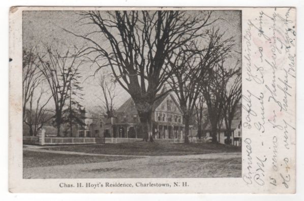 Chas H. Hoyt's Residence Charlestown NH New Hampshire Vintage Postcard