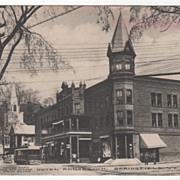 Hotel Adnabrown Springfield VT Vermont Vintage Postcard