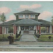 Attleboro MA Massachusetts Capron Park Casino Vintage Postcard