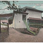 Norumbega Park Open Air Theatre Rear View, Auburndale MA Massachusetts Vintage Postcard