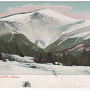 Mount Washington NH New Hampshire in Winter Vintage Postcard