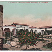 San Juan Capistrano Mission Founded 1776 CA California Vintage Postcard