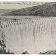 Sweetwater Dam Showing Overflow near San Diego CA California Vintage Postcard