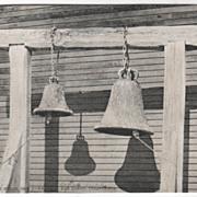 Old Mission Bells Old Town San Diego CA California Vintage Postcard