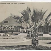 Pavilion Mission Cliff San Diego CA California Vintage Postcard