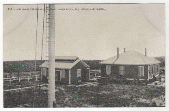 Wireless Telegraph Station Point Loma San Diego Ca California Vintage Postcard