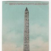 Bennington Monument Fort Rosecrans San Diego CA California Vintage Postcard