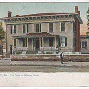 Montgomery AL Alabama The Home of Jefferson Davis Tuck Vintage Postcard