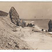 RPPC Castle Rock near Santa Monica CA California Vintage Postcard