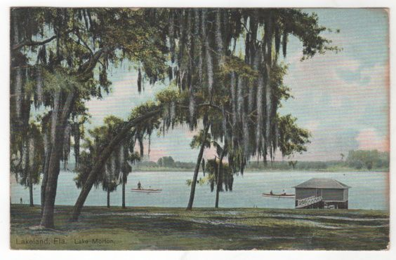 Lakeland FL Florida Lake Morton Vintage Postcard