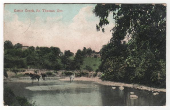 Kettle Creek St Thomas Ontario Canada Vintage Postcard