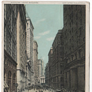 DPC Bankers' Trust Building Broad Street and Curb Brokers NYC NY New York Vintage Postcard