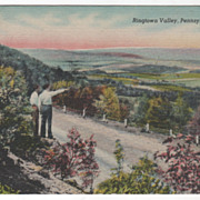 Ringtown Valley PA Pennsylvania Vintage Postcard
