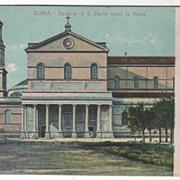 Roma Italy Basilica di S Paolo fuori le Mura Vintage Postcard