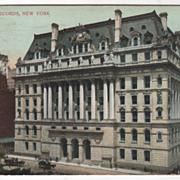 SOLD Hall of Records New York City NY New York Vintage Postcard