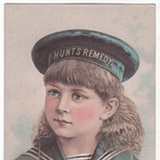 Hunt's Remedy Company for Kidney & Liver Disease Providence RI Rhode Island Trade Card