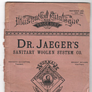 Dr Jaeger's Sanitary Woolen System Co Illustrated Catalogue 1893 Copyright