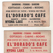 El' Dorado's Cafe P. O. Macy IND IN Indiana Business Cards with Humor on ...