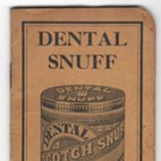 Dental Scotch Snuff American Snuff Co Memphis TN Tennessee Pocket Notebook
